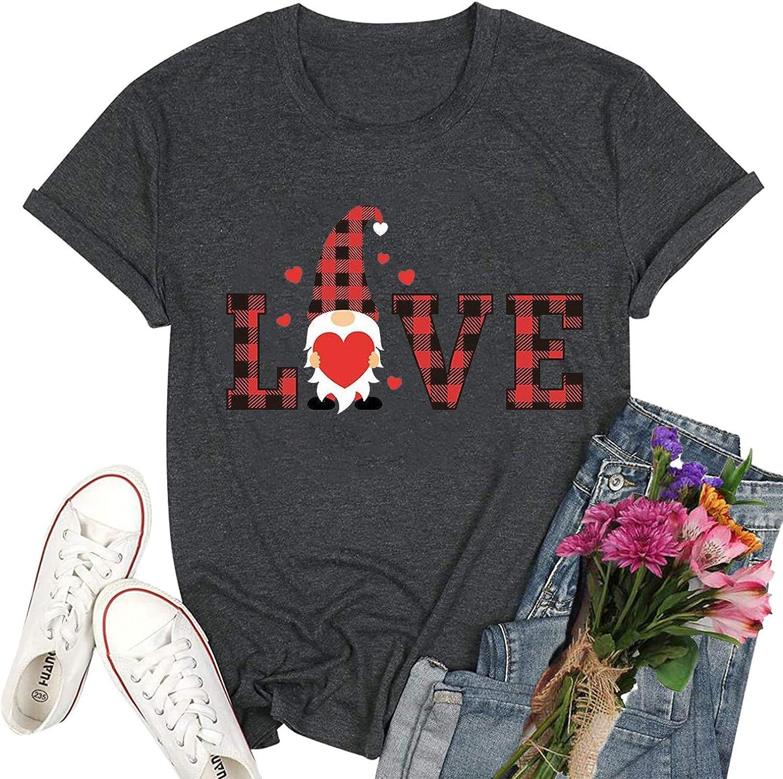 FABIURT Shirts for Women Under 10 Dollars Womens T Shirt Casual Cotton Short Sleeve V-Neck Graphic T-Shirt Tops Tees Dark Gray