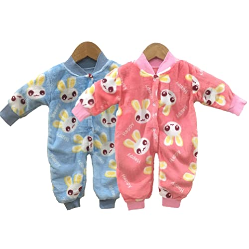 Miss U Baby Boys Baby Girls Infants Kids Shearing Velvet Full Sleeves  Winter Wear Romper Set d2417b999
