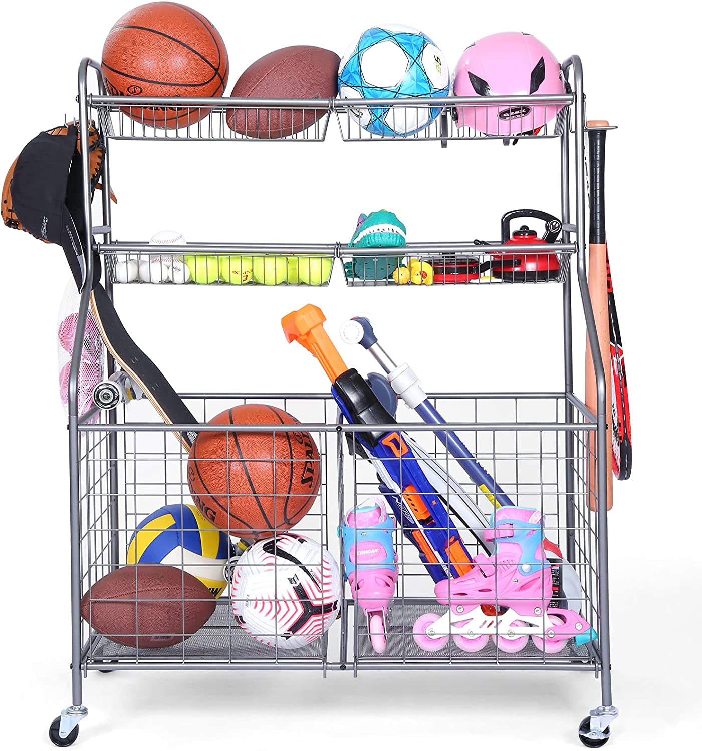 Time sale Kinghouse Garage Sports Easy-to-use Organizer Equipment St