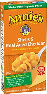 Annie's Macaroni & Cheese, Shells & Real Aged Cheddar, 6 oz
