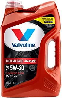 Valvoline High Mileage with MaxLife Technology 5W-20 Synthetic Blend Motor Oil - 5qt (782253)
