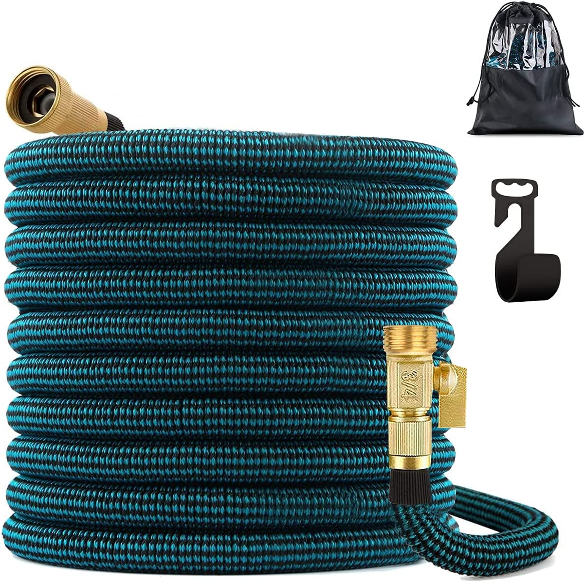 CORROY 100FT Expandable Garden Hose Leakproof Expanding Water Hose with Solid Fittings Connectors,Easy Storage Garden Water Hose