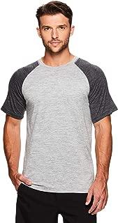 Gaiam Men's Raglan Crew Neck T Shirt - Short Sleeve Yoga & Workout Top