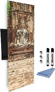 GlassArtist 435884839 Boîte à clés avec façade en Verre magnétique 80 x 30 cm