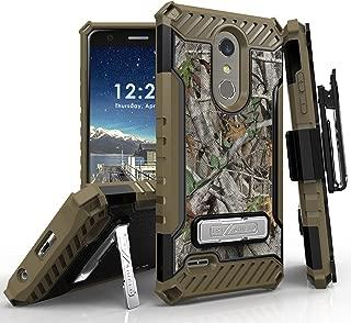 LG K30 Case (X410), LG Phoenix Plus, LG Premier Pro LTE, LG K10 2018 Phone Case, 12 Ft Military Grade Drop Tested Belt Clip Kick Stand Hybrid Shockproof Armor Cover (Camo)