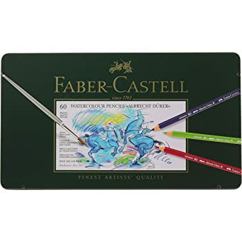 Faber-Castell Albrecht Durer Watercolor Pencil Tin, Set of 60 Colors (FC117560)