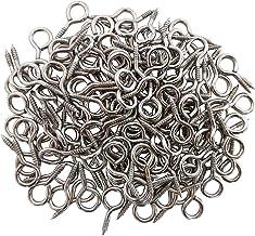 Axe Sickle 1 inch Small Screw Eyes Metal Eye Screw Hooks Self Tapping Screws Hook Ring Eyelet Hooks 100 Pcs.