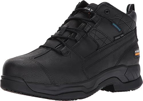 Ariat - - Chaussures de Sport de Travail Contender H2O Steel Toe pour Hommes, 48 M EU, Matte noir  pas cher