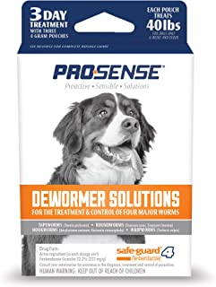 ProSense Dog Dewormer Solutions Safe-Guard 3 Day Treatment, 3 ct