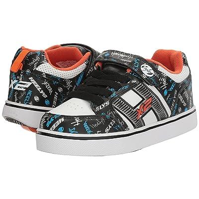Heelys Bolt Plus X2 (Little Kid/Big Kid) (Black/White/Orange/Cyan) Boys Shoes