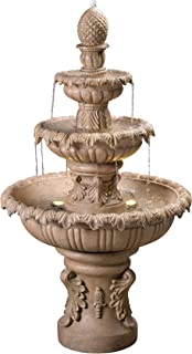 Kenroy Home 51010SNDST Ibiza Outdoor Tiered Fountain with Lights, 45