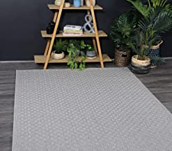 Home Culture Sydney Courtyard Diamond Stone Rug- Durable Rugs for Bedroom, Living Room, High Traffic Areas of Home and Off...