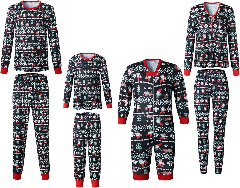 SAMGU Family Christmas Pyjamas Set Matching Long Sleeve Sleepwear Parent-Child Nightwear for Man Women Girl Boy Baby