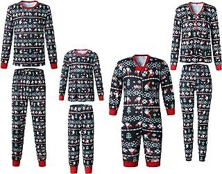 AIDEAONE Ensemble de Pyjamas de No/ël Assortis pour La Famille Ensembles Pyjama