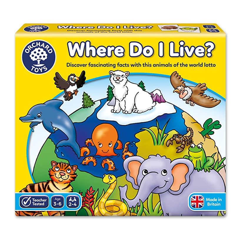 Orchard Toys 69 Where Do I Live Game?, Children's Game, One Size, Multicolor