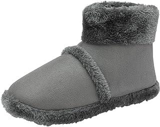 Dunlop Men's Snugg Warm Fairisle Knit Design Slipper Boot