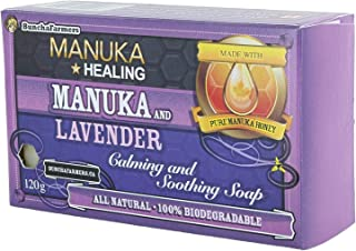 BunchaFarmers All Natural 100% Biodegradable Healing Manuka Honey and Lavender Calming and Soothing Soap Bar (Made in Canada)