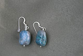 Ajoite and Papagoite Earrings love, healing, emotional support 5204
