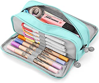 KidsPark Trousse Scolaire Garcon Fille Ado, Trousse à Crayons Grande Capacité avec 3 Compartiments, Sac à Crayons école Pa...