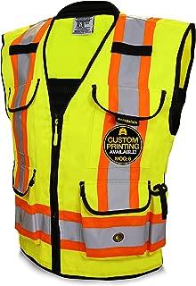 KwikSafety (Charlotte, NC) GODFATHER (Cushioned Collar) Class 2 ANSI OSHA High Visibility Safety Vest 9 Pockets Reflective Tape Heavy Duty Zipper Mesh Hi Vis Construction Men Women Yellow XX-Large