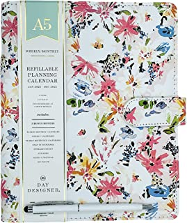 """$64 » January 2022- December 2022 Deluxe Day Designer for Blue Sky A5 Weekly/monthly Refillable Planner Organizer 7.5"""" x 9.375"""" ..."""
