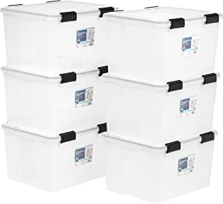 IRIS USA, Inc. UCB-SD WEATHERTIGHT Storage Box, 46 Quart, Clear