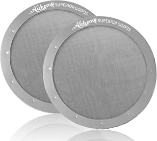 Stainless Steel Mesh Filters - (Pack of 2) Premium Filter for AeroPress Coffee Makers Washable & Reusable Micro-Filters