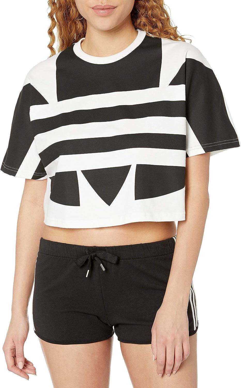unisex adidas Deluxe Originals Women's T-Shirt Large Logo