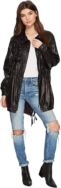 Drawstring Lightweight Jacket in After Dark