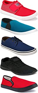 WORLD WEAR FOOTWEAR Sports Running Shoes/Casual/Sneakers/Loafers Shoes for Men Multicolor (Combo-(5)-1219-1221-1140-664-1012)