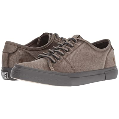 Frye Gia Canvas Low Lace (Grey Canvas/Smooth Full Grain/Nubuck) Women