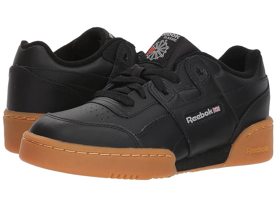 Reebok Kids Workout Plus (Big Kid) (Black/Gum) Kids Shoes