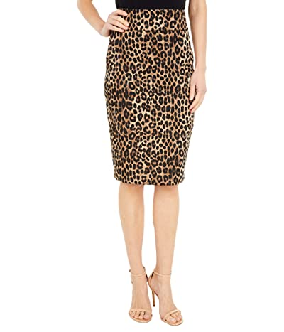 MICHAEL Michael Kors Cheetah Pencil Skirt (Dark Camel) Women