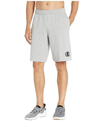 Champion Powerblend(r) Applique Shorts (Oxford Gray) Men