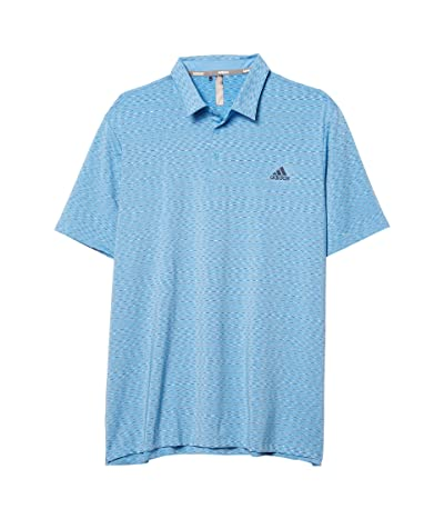 adidas Golf Ultimate365 Space Dye Stripe Polo (Light Blue/Collegiate Navy/White) Men