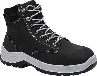 ELTEN Chaussures de sécurité Lily Black Mid ESD S3 - Pour femme - En cuir - Robuste - Léger - Noir - Embout en acier - Tai...