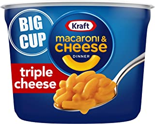Kraft Easy Mac Flavor Macaroni and Cheese Big Cup ( Microwaveable Cups) Triple Cheese 8 Ounce (Pack of 8)