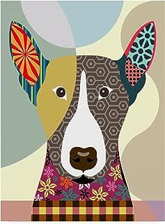 Bull Terrier Dog by Lanre Adefioye, 18x24-Inch
