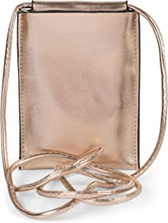 styleBREAKER Borsa a tracolla per cellulare da donna in metallo, borsa a tracolla, borsa portacellulare, mini borsa 020123...