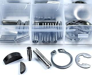 180Pcs 18 Kinds Set Woodruff Keys Stainless Steel Snap Ring Roll Pin E-Clip Kit