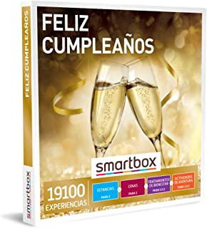 Smartbox - Caja Regalo para cumpleaños- Feliz cumpleaños - Caja Regalo para Hombres - 1 Experiencia de Estancia, gastronom...