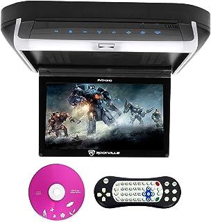 "Rockville RVD10HD-BK 10.1"" Flip Down Monitor DVD Player, HDMI, USB, Games, LED (RVD10HD-BK v2)"