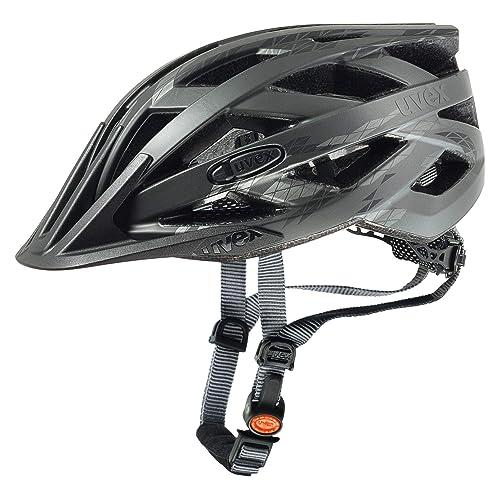 Uvex I-Vo CC Casco de Ciclismo, Unisex Adulto, Negro (Humo)