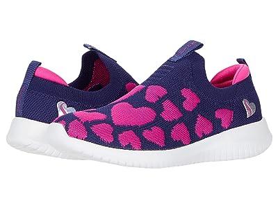 SKECHERS KIDS Sport Ultra Flex 302254L (Little Kid/Big Kid) (Navy/Neon Pink) Girl