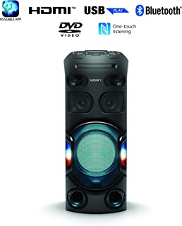 Sony MHC-V42D   High Power Party Speaker   One Box Music System with Multi Colour Lighting Effects - Black