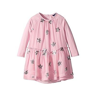 Joules Kids Layered Party Dress (Toddler/Little Kids) (Dusk Pink Stars) Girl
