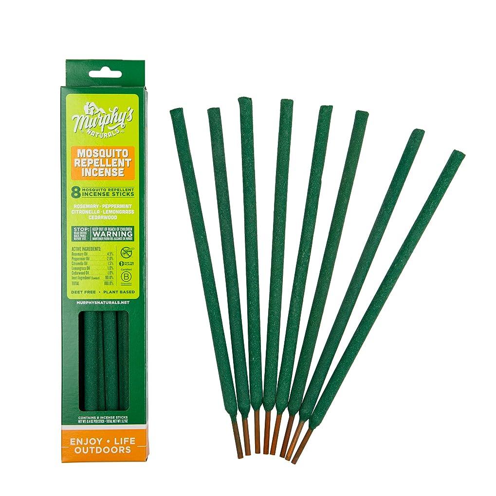 休日有名ミスペンドマーフィーのNaturals Mosquito Repellent Incense Sticks?–?8パックカートン グリーン
