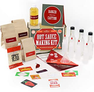 Hot Sauce Kit (Makes 7 Lip Smacking Gourmet Bottles) Featuring Heirloom Peppers From 5th Generation Farmers, A Full Set Of Recipes, Storing Bottles & More!