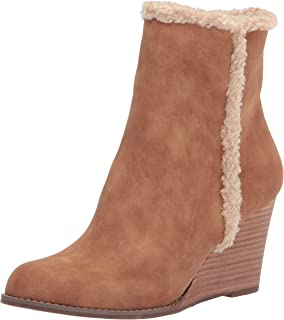 Report Women's Bootie, Wedge Ankle Boot, TAN, 8.5 M US