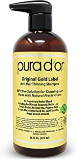 PURA D'OR Original Gold Label Anti-Thinning Shampoo Clinically Tested, Infused with..